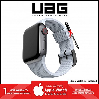 UAG [U] Dot Silicone Strap for Apple Watch Series SE / 6 / 5 / 4 / 3 / 2 / 1 ( 44mm / 42mm ) - Soft Blue ( Barcode : 810070360535 )