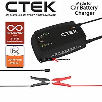 PRO25SE UK 12V - Smart Battery Charger (16cm Cable with Wall Bracket) (Petrol/Diesel) (Barcode: 7340103401902)