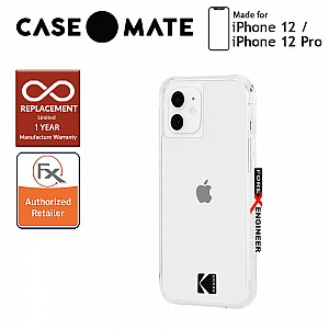 """Case Mate KODAK with MicroPel for iPhone 12 / 12 Pro 5G 6.1"""" - Clear Case with Logo (Barcode : 840171700404)"""