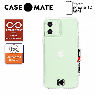 """Case Mate KODAK with MicroPel for iPhone 12 Mini 5G 5.4"""" - Clear Case with Logo (Barcode: 840171700442)"""