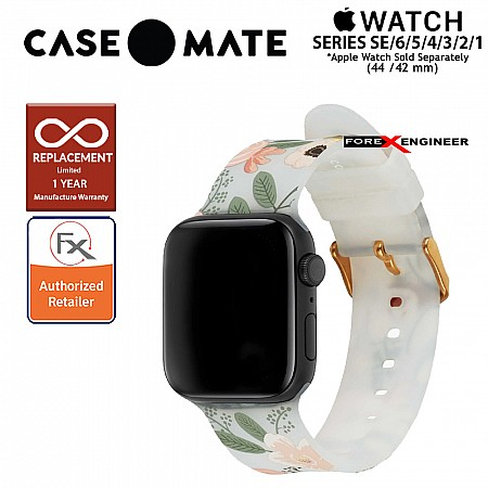 Case Mate Rifle Paper Watch Band for Apple Watch Series SE / 6 / 5 / 4 / 3 / 2 / 1 (44mm/42mm) - Wild Flowers (Barcode : 840171701104)