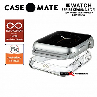 Case Mate Tough Clear Bumper for Apple Watch Series 1 to 6 / SE (38/40mm) - Clear (Barcode : 846127182584)
