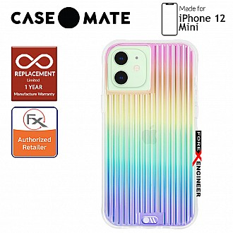 """Case Mate Tough Groove for iPhone 12 Mini 5G 5.4"""" - Iridescent with MicroPel (Barcode: 846127196543)"""