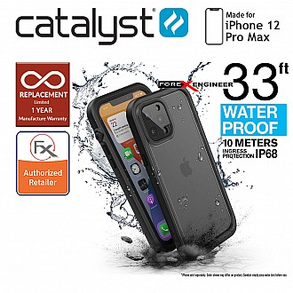 """Catalyst Waterproof Case for iPhone 12 Pro Max 6.7"""" 5G - Stealth Black (Barcode : 840625111152)"""