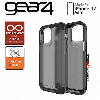 """Gear4 Wembley Palette for iPhone 12 Mini 5G 5.4"""" - D3O Material Technology - Drop Resistant Up to 3 meters - Smoke (Barcode : 840056127845)"""