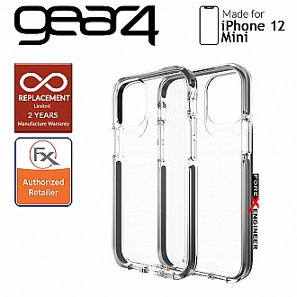 """Gear4 Piccadilly for iPhone 12 Mini 5G 5.4"""" - D30 Material Technology - Black (Barcode : 840056127906)"""