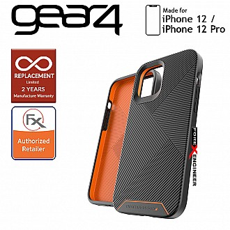 """Gear4 Battersea for iPhone 12 / 12 Pro 5G 6.1"""" - D30 Material Technology - Black (Barcode : 840056128033)"""