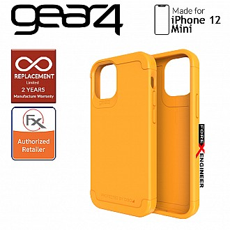 """Gear4 Wembley Palette for iPhone 12 Mini 5G 5.4"""" - D3O Material Technology - Drop Resistant Up to 3 meters - Saffron Yellow (Barcode : 840056129153)"""