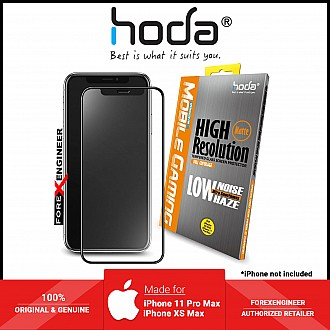 Hoda Screen Protector for iPhone 11 Pro Max / Xs Max - 2.5D 0.33mm Full Coverage Tempered Glass - Matte (Barcode: 4713381514689 )
