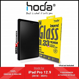 Hoda Screen Protector for iPad Pro 12.9 (3rd - 5th Gen) (2018 - 2021) (Notch) M1 Chip - 0.33mm Full Coverage Tempered Glass - Clear (Barcode: 4713381516539 )
