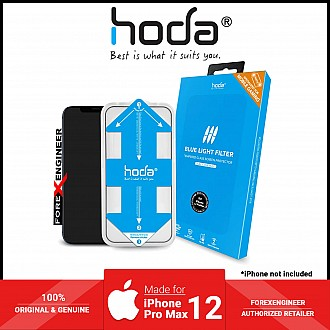 Hoda Tempered Glass for iPhone 12 Pro Max - 0.5D 0.33mm Full Coverage ( with Helper ) - Blue Light Filter Matte (Barcode: 4713381519578 )