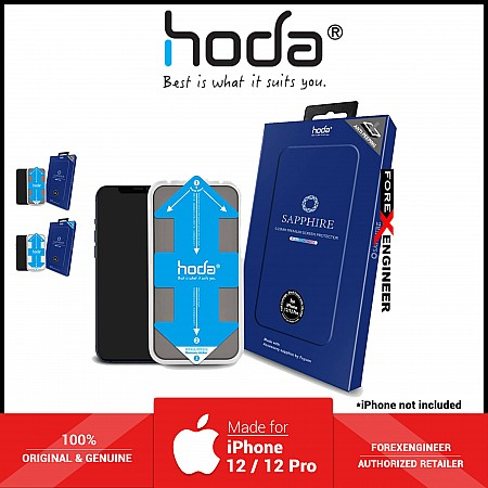 Hoda Sapphire Screen Protector for iPhone 12 / 12 Pro ( With Helper ) - Anti - Peeper (Barcode: 4713381519912 )