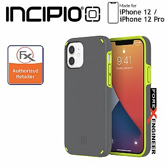"""Incipio Duo for iPhone 12 / 12 Pro 5G 6.1"""" - Gray/Volt Green (Barcode : 191058118158)"""