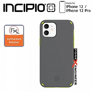 "Incipio Duo for iPhone 12 / 12 Pro 5G 6.1"" - Gray/Volt Green (Barcode : 191058118158)"