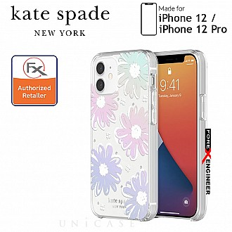 """Kate Spade Protective Hardshell for iPhone 12 / 12 Pro 5G 6.1"""" - Daisy Iridescent (Barcode : 191058121011)"""
