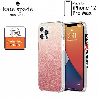 """Kate Spade Protective Hardshell for iPhone 12 Pro Max 5G 6.7"""" - Glitter Ombre Sunset Pink  (Barcode : 191058122445)"""
