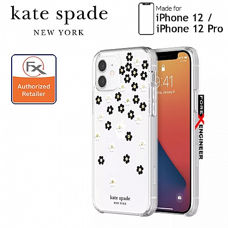 """Kate Spade Protective Hardshell for iPhone 12 / 12 Pro 5G 6.1"""" - Scattered Flowers (Barcode : 191058122674)"""