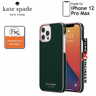 """Kate Spade Wrap for iPhone 12 Pro Max 5G 6.7"""" - Deep Evergreen (Barcode : 191058121226)"""