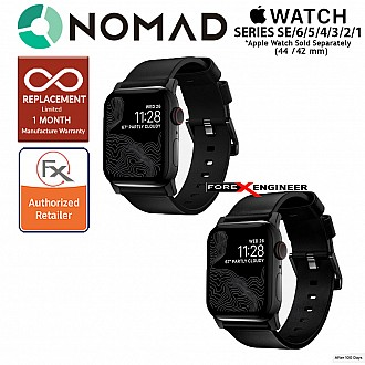 Nomad Modern Leather Strap Apple Watch Series 1 to 6/SE 42mm/44mm - Black Leather with Black Hardware (Barcode: 855848007588 )