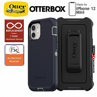 """Otterbox Defender for iPhone 12 Mini 5G 5.4"""" - Varsity Blues (Barcode : 840104215166)"""