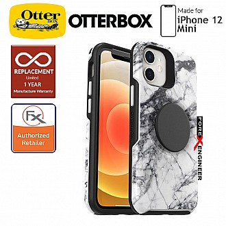 """Otterbox Otter + Pop Symmetry for iPhone 12 Mini 5G 5.4"""" - White Marble (Barcode : 840104215524)"""