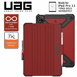 "UAG Metropolis for iPad Pro 11"" / Air 10.9 inch ( 3rd / 4th Gen ) ( 2021 ) Case - Magma ( Barcode : 810070361082 )"