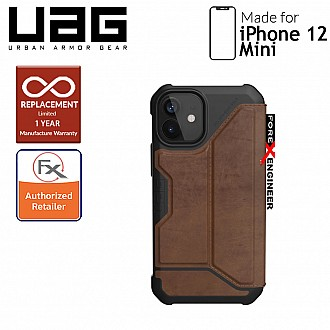 """UAG Metropolis for iPhone 12 Mini 5G 5.4"""" - Leather Brown (Barcode : 812451036572)"""