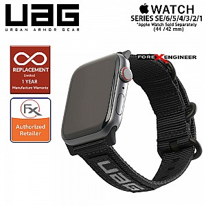 UAG Nato Strap for Apple Watch 44mm / 42mm Compatible for Series 1 - 6 / SE - Black Colour (Barcode: 812451038170)