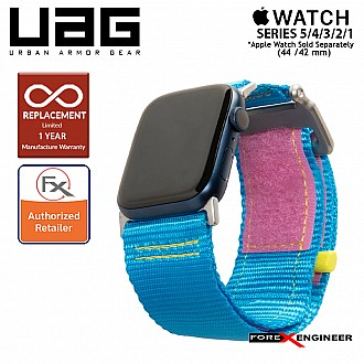 UAG Active Strap for Apple Watch 44mm / 42mm Compatible for Series 1 to 5 - Blue Pink (Barcode : 812451039801)