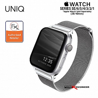 UNIQ Dante Stainless Steel Strap for Apple Watch Series SE / 6 / 5 / 4 / 3 / 1 ( 40mm / 38mm ) - Silver (Barcode: 8886463669686 )