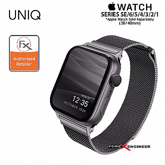 UNIQ Dante Stainless Steel Strap for Apple Watch Series SE / 6 / 5 / 4 / 3 / 1 ( 40mm / 38mm) - Graphite (Barcode: 8886463675762 )