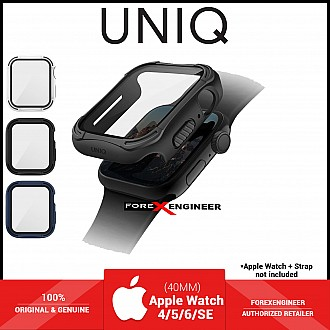 UNIQ TORRES Watch Case with 9H Tempered Glass for Apple Watch Series SE / 6 / 5 / 4 ( 40mm) - Black (Barcode: 8886463676295 )
