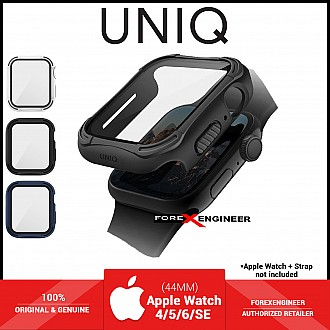 UNIQ TORRES Watch Case with 9H Tempered Glass for Apple Watch Series SE / 6 / 5 / 4 ( 44mm) - Black (Barcode: 8886463676301 )