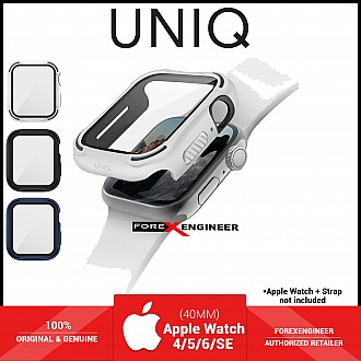 UNIQ TORRES Watch Case with 9H Tempered Glass for Apple Watch Series SE / 6 / 5 / 4 ( 40mm) - White (Barcode: 8886463676332 )