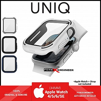 UNIQ TORRES Watch Case with 9H Tempered Glass for Apple Watch Series SE / 6 / 5 / 4 ( 44mm) - White (Barcode: 8886463676349 )