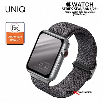 UNIQ Aspen Braided Band for Apple Watch Series SE / 6 / 5 / 4 / 3 / 2 / 1 ( 40mm  / 38mm ) - Grey ( Barcode : 8886463676387 )