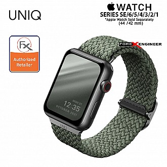 UNIQ Aspen Braided Band for Apple Watch  Series SE / 6 / 5 / 4 / 3 / 2 / 1 ( 44mm / 42mm ) - Green ( Barcode : 8886463676400 )