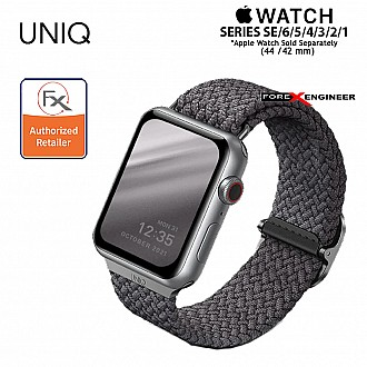 UNIQ Aspen Braided Band for Apple Watch Series SE / 6 / 5 / 4 / 3 / 2 / 1 ( 44mm / 42mm ) - Grey ( Barcode : 8886463676417 )