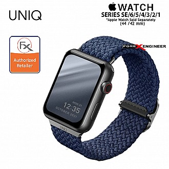 UNIQ Aspen Braided Band for Apple Watch  Series SE / 6 / 5 / 4 / 3 / 2 / 1 ( 44mm / 42mm ) - Blue ( Barcode : 8886463676424 )