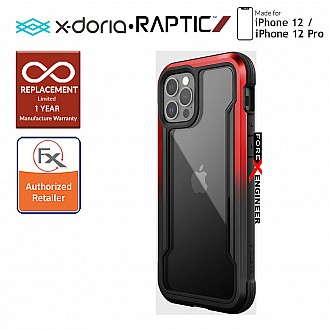 """X-Doria Raptic Shield for iPhone 12 / 12 Pro 5G 6.1"""" - Black Red Gradient (Barcode: 6950941490337)"""