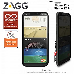 """InvisibleShield Glass Elite Privacy+ for iPhone 12 / 12 Pro 5G 6.1"""" (Barcode: 840056131828)"""