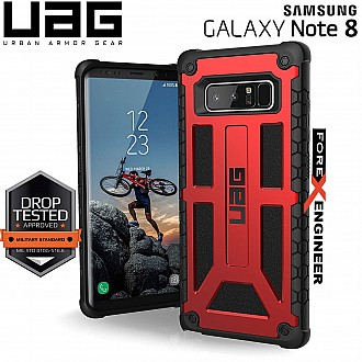 UAG Monarch for Samsung Galaxy Note 8 Feather-Light Rugged & Military Drop Tested - Crimson