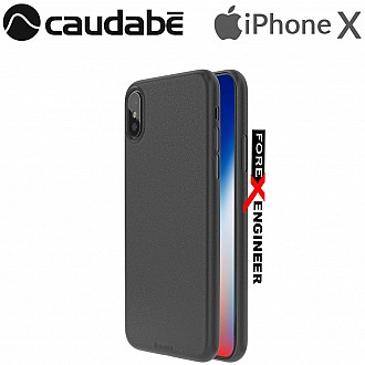 Caudabe the Veil XT for iPhone X / Xs Premium Ultra Thin Case - Stealth Black