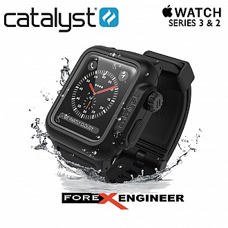 Catalyst Waterproof Shock Resistant Case for Apple Watch 42mm Series 3 & 2 (Stealth Black)
