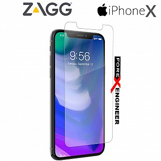 ZAGG InvisibleShield Glass+ Screen Protector for Apple iPhone X / Xs - High-Definition Tempered Glass Screen Protector