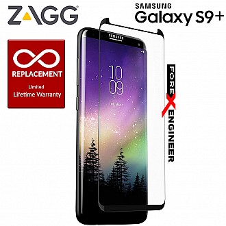 ZAGG InvisibleShield Glass Curve Elite for Samsung Galaxy S9 Plus / S9+ Screen Protector, Impact and Scratch Protection – Smudge Resistant – Limited Lifetime Warranty