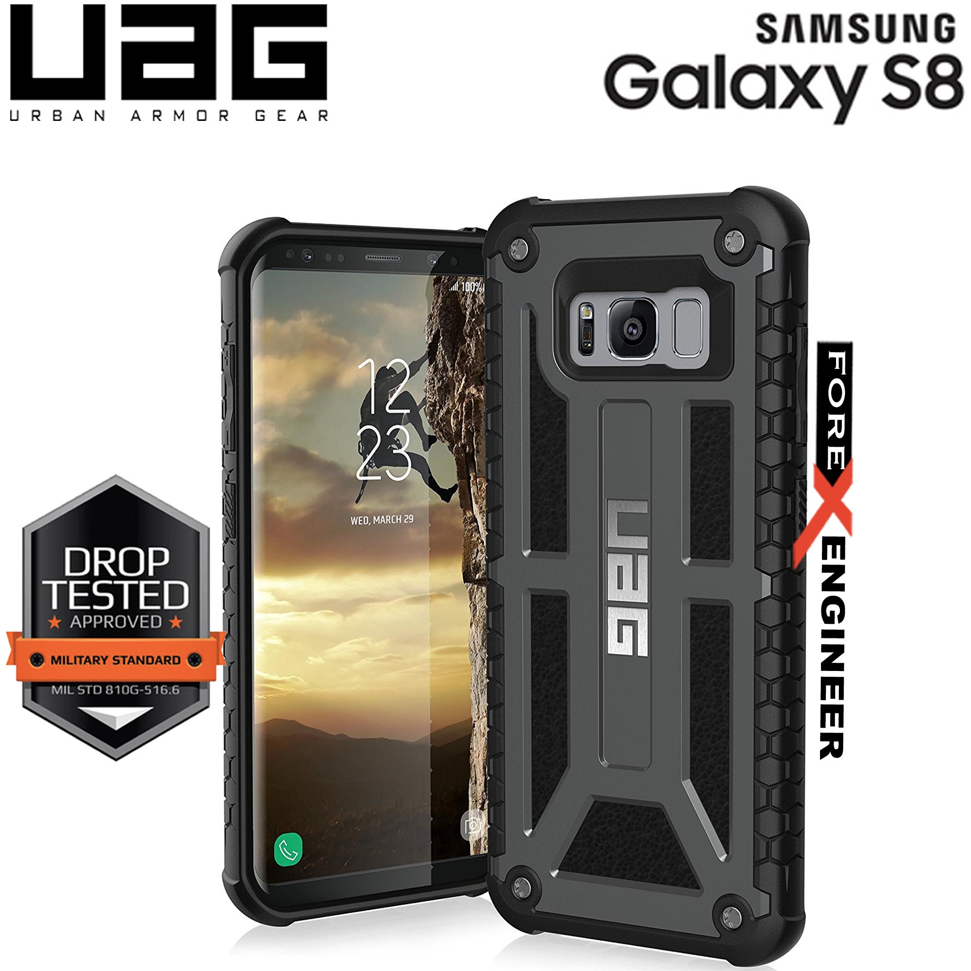 UAG Monarch for Samsung Galaxy S8 Feather-Light Rugged & Military Drop Tested - Graphite
